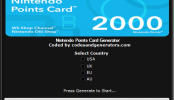 Nintendo Points Card Generator – Free Nintendo Wii & DSi Points