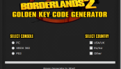 Borderlands 2 Golden Keys Code Generator – Free Borderlands 2 Golden Keys Codes