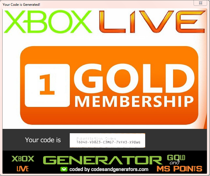 free xbox live code generator download mac