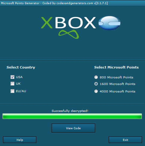 microsoft points card generator